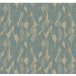 NA0512 Blue Stained Glass Wallpaper | The Fabric Co