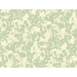 NA0517 Green Pressed Leaves Wallpaper | The Fabric Co