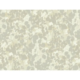 NA0518 Silver Pressed Leaves Wallpaper | The Fabric Co