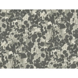 NA0521 Dark Grey Pressed Leaves Wallpaper | The Fabric Co