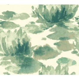 NA0526 Green Water Lily Wallpaper | The Fabric Co