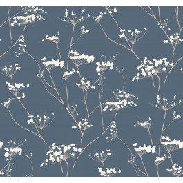 NA0600 Blue Enchanted Wallpaper   The Fabric Co