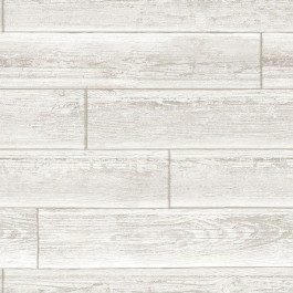 NU1930 Serene Cream Grey White Wood Plank Peel & Stick Wallpaper