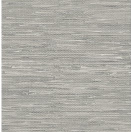 NU2083 Tibetan Grasscloth Grey Natural Peel and Stick Wallpaper