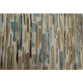 Ozak Mineral Taupe Blue Contemporary Abstract Watercolor Paint Print Swavelle Mill Creek Fabric