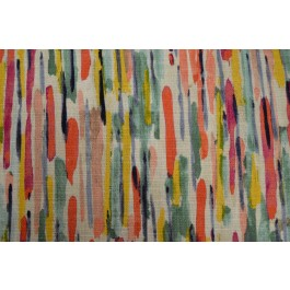 Ozak Punch Bright Pink Red Multicolored Contemporary Abstract Watercolor Paint Print Swavelle Mill Creek Fabric
