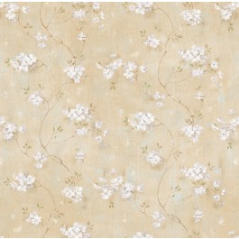 Braham Sand Country Floral Scroll Wallpaper