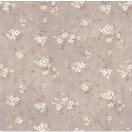 Braham Purple Country Floral Scroll Wallpaper