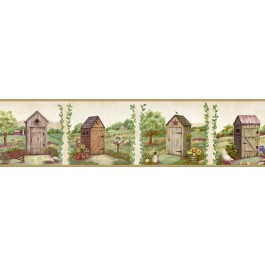 Fredley Cream Country Meadow Outhouse Border