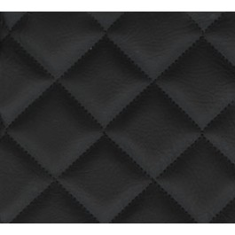 Double Quilted Arctic 9009 BLACK,2X2 DIAMOND Fabric