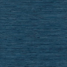 RMK11314WP Blue Faux Grasscloth Peel & Stick Wallpaper | The Fabric Co