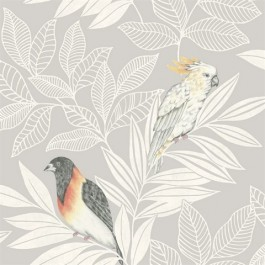 RY30100 Paradise Gray Ivory Wallpaper | Seabrook | The Fabric Co