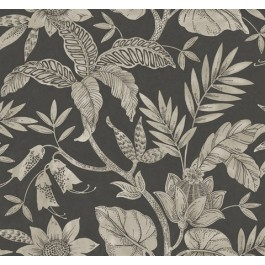 RY30200 Rainforest Charcoal Wallpaper | Seabrook | The Fabric Co
