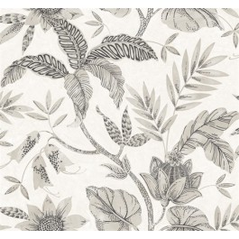 RY30205 Rainforest Ivory Grey Wallpaper   Seabrook   The Fabric Co