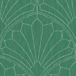 RY31504 Scallop Green Wallpaper | Seabrook | The Fabric Co