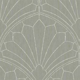 RY31515 Scallop Grey Wallpaper | Seabrook | The Fabric Co