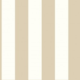 "SA9177 3"" Stripe Tan White Wallpaper"