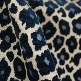 Leopard Chenille Upholstery Fabric Blue Leopard Fabric