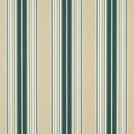 "Sunbr 46"" 4932 Forest Green/Beige/Nat Fancy Stripe J. Ennis Fabric"