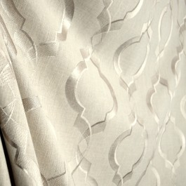 Sweep Linen Embroidered Swavelle Trellis Silky Smooth Fabric