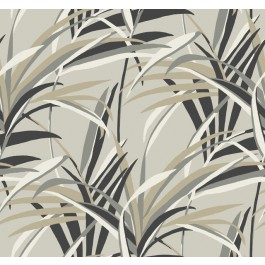 TC2604 Taupe Tropical Paradise Wallpaper | The Fabric Co