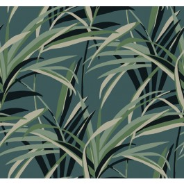 TC2607 Green Teal  Tropical Paradise Wallpaper | The Fabric Co