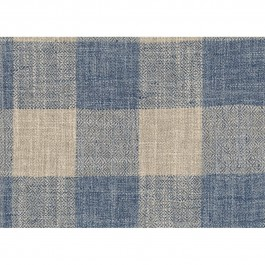 Showhouse Denim Blue Buffalo Check Woven Upholstery Swavelle Mill Creek Fabric