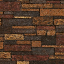 TLL41394 Clayton Charcoal Stone Texture Wallpaper