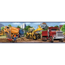 TOT46461B Elbow Grease Yellow Heavy Machinery Portrait Border