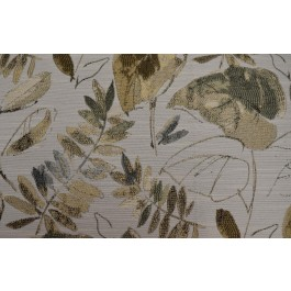 Tropic State Marsh Taupe Green Tropical Leaf Floral Woven Upholstery Swavelle Mill Creek Fabric