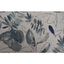 Tropic State Tide Blue Tropical Leaf Floral Woven Upholstery Swavelle Mill Creek Fabric
