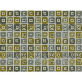 Bebop Sulfur Yellow Contemporary Geometric Square Upholstery Covington Fabric