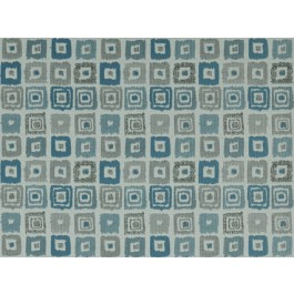 Bebop Wedgewood Blue Contemporary Geometric Square Upholstery Covington Fabric