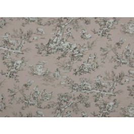 Musee Dusty Rose Light Pink Traditional Toile Print Covington Fabric