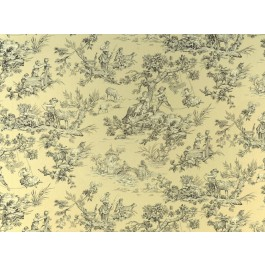 Musee Natural Cream Traditional Toile Print Covington Fabric
