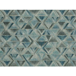 Opaline Hazy Blue Contemporary Geometric Print On Heavy Cotton Covington Fabric