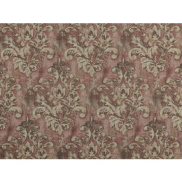 Orleans Dusty Rose Pink Antiqued Damask Print Heavy Cloth Covington Fabric