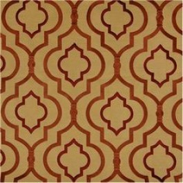 Gold Rust Embroidered Geometric Curtain Agnes Turmeric Swavelle Mill Creek Fabric