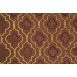 Brown Embroidered Geometric Curtain Agnes Walnut Swavelle Mill Creek Fabric