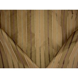 Olive Gold Polyester Faux Silk Stripe Curtain Aristotle Bamboo Swavelle Mill Creek Fabric