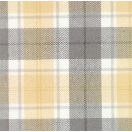 Yellow Grey Plaid Herringbone Baskerville Cloud Swavelle Mill Creek Fabric