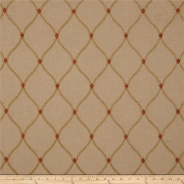 Brown Burnt Orange Embroidered Trellis Curtain Engaging Hearth Swavelle Mill Creek Fabric