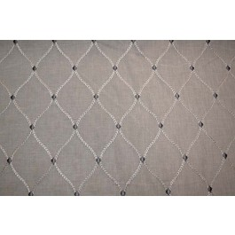 Taupey Grey Embroidered Trellis Curtain Engaging Smoke Swavelle Mill Creek Fabric