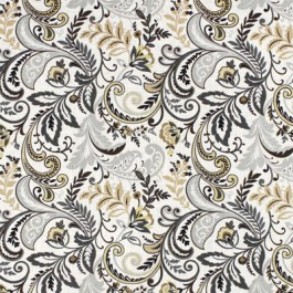 Brown Taupe Tan Paisley Print Findlay Charcoal Swavelle Mill Creek Fabric