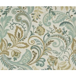 Teal Tan Paisley Print Findlay Sea Glass Swavelle Mill Creek Fabric
