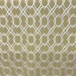 Yellow Embroidered Geometric Forget Me Knots Curry Swavelle Mill Creek Fabric