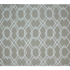 Tan Embroidered Geometric Forget Me Knots Linen Swavelle Mill Creek Fabric