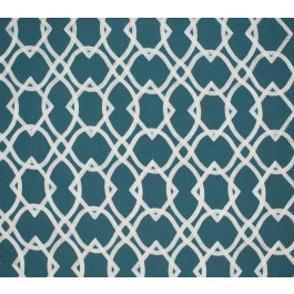 Teal Blue Embroidered Geometric Forget Me Knots Peacock Swavelle Mill Creek Fabric
