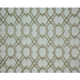 Golden Tan Embroidered Geometric Forget Me Knots Taupe Swavelle Mill Creek Fabric