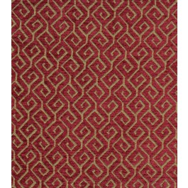 Deep Red Geometric Chenille Upholstery Framework Spice Swavelle Mill Creek Fabric